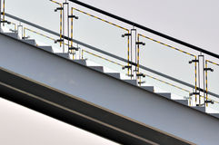 Fase del metallo composta da figura e dalla riga fotografie stock