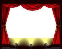 Fase del teatro Immagine Stock