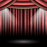 Fase del teatro con i riflettori Immagine Stock Libera da Diritti