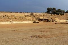 Fase dell'ippodromo nel parco nazionale di Cesarea in Palestina Immagini Stock Libere da Diritti
