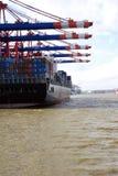 Fase di atterraggio al porto di Amburgo, Germania 03 fotografia stock