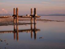 Fase di atterraggio nel lago di Constance Fotografie Stock Libere da Diritti
