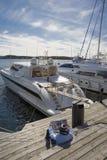 Fase di atterraggio per gli yacht Immagine Stock
