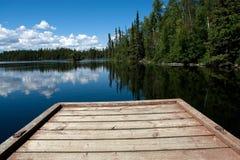 Fase di atterraggio sul lago Fotografie Stock