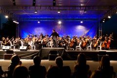 Fase di concerto Fotografia Stock