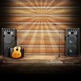 Fase di musica country o fondo di canto Fotografie Stock Libere da Diritti