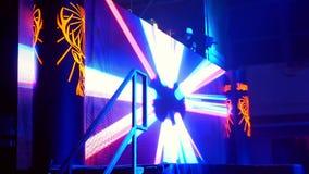 Fase di musica di luci di concerto video d archivio