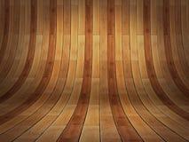 Stanza vuota di presentazione realistica 3D - fondo di legno del parket   Immagine Stock Libera da Diritti
