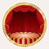 Fase do círculo do ouro Foto de Stock Royalty Free
