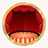 Fase do círculo do ouro redonda Imagens de Stock