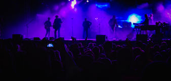 Fase do concerto Imagens de Stock