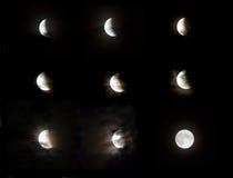 Fase do eclipse da lua Imagens de Stock