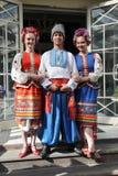 A fase do ¾ n de Ð é dançarinos e cantores, atores, membros do coro, dançarinos de corpo de bailado, solistas do conjunto ucrania foto de stock