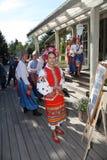 A fase do ¾ n de Ð é dançarinos e cantores, atores, membros do coro, dançarinos de corpo de bailado, solistas do conjunto ucrania fotografia de stock royalty free