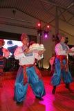 A fase do ¾ n de Ð é dançarinos e cantores, atores, membros do coro, dançarinos de corpo de bailado, solistas do conjunto ucrania Imagens de Stock