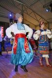 A fase do ¾ n de Ð é dançarinos e cantores, atores, membros do coro, dançarinos de corpo de bailado, solistas do conjunto ucrania fotos de stock royalty free