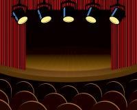 Fase do teatro Foto de Stock
