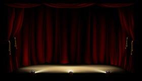 Fase do teatro ilustração do vetor