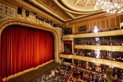 Fase do teatro da ópera em Riga Fotografia de Stock