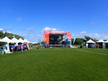 Fase e cabines do festival de O'ahu do desejo por viajar Imagem de Stock Royalty Free