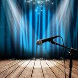 Fase e microfono Fotografia Stock