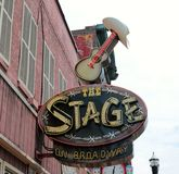 A fase em Broadway, Live Music Venue Nashville Tennessee imagens de stock