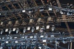 Fase illuminata di concerto dell'aria aperta Fotografia Stock Libera da Diritti