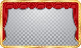 Fase larga transparente ilustração stock