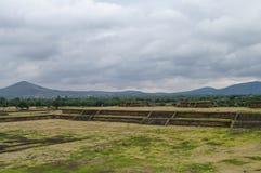 Fase no local de Teotihuacan Fotografia de Stock