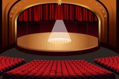Fase vazia do teatro Imagens de Stock