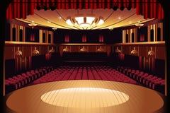 Fase vazia do teatro Imagem de Stock Royalty Free