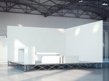 Fase vazia no interior moderno da exposição rendição 3d Foto de Stock Royalty Free