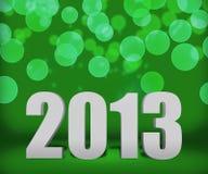 Fase verde del fondo dell'nuovo anno 2013 Fotografia Stock Libera da Diritti