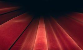 Fase vermelha das cortinas Conceito da imagem do teatro Foto de Stock Royalty Free