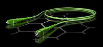 Faser Optik-Patchcord-Kabel lizenzfreie abbildung