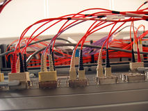 Faser-optisches Netz Stockfotos