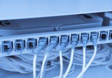 Faserkabel-Aufschlag mit Technologieart Lizenzfreie Stockfotos