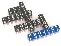 Fases da gestão do projecto Imagens de Stock