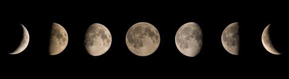 Fases da lua Fotografia de Stock