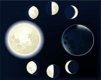 Fases da lua Imagem de Stock Royalty Free