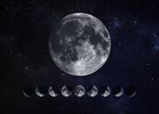 Fases da lua Imagem de Stock
