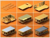 Fases de construção 2 Foto de Stock Royalty Free
