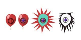 Fases de la animación del tiroteo del globo Fotografía de archivo