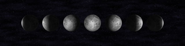 Fases de la luna Foto de archivo libre de regalías