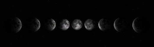 Fases de la luna stock de ilustración
