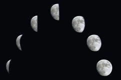 Fases de la luna Imágenes de archivo libres de regalías