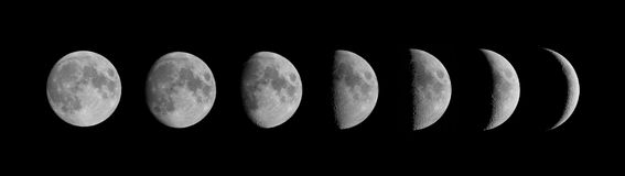 Fases de la luna Imagen de archivo libre de regalías