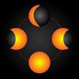 Fases de la luna Imagenes de archivo