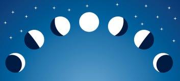 Fases de la luna Fotografía de archivo libre de regalías