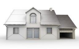 Fases de projeto da casa Imagem de Stock
